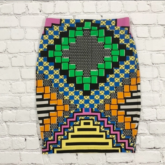Topshop Dresses & Skirts - Topshop Multicolored Print Mini Skirt